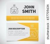 business card print template... | Shutterstock .eps vector #657705634