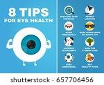 8 tips for eye health... | Shutterstock .eps vector #657706456