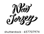 usa state new jersey hand... | Shutterstock .eps vector #657707974