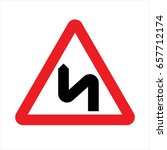 road sign used in slovakia  ...   Shutterstock .eps vector #657712174