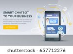 chatbot and future marketing... | Shutterstock .eps vector #657712276