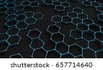 black abstract background with... | Shutterstock . vector #657714640
