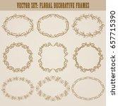 vector set of decorative hand... | Shutterstock .eps vector #657715390