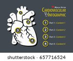 cardiovascular infographic .... | Shutterstock .eps vector #657716524