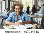 charismatic good looking afro... | Shutterstock . vector #657724816