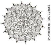 floral mandala for coloring... | Shutterstock .eps vector #657725668