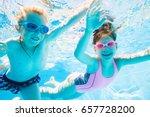 underwater photo of  little... | Shutterstock . vector #657728200