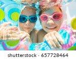underwater photo of  little... | Shutterstock . vector #657728464
