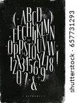 alphabet set gothic font in... | Shutterstock .eps vector #657731293