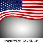 closeup of american flag on... | Shutterstock . vector #657732034