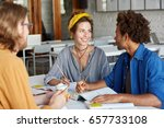 friendly atmosphere and good...   Shutterstock . vector #657733108