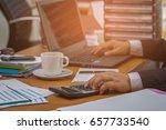 a businessman analyzing... | Shutterstock . vector #657733540