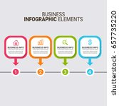 infographic templates in paper...   Shutterstock .eps vector #657735220