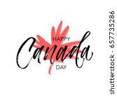 Happy Canada Day Postcard. Ink...
