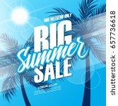 big summer sale. this weekend... | Shutterstock .eps vector #657736618