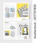bifold brochure cover design...   Shutterstock .eps vector #657737833