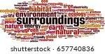 surroundings word cloud concept.... | Shutterstock .eps vector #657740836
