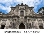 the facade of the church of the ... | Shutterstock . vector #657745540