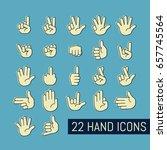 hand gesture icons set. vector... | Shutterstock .eps vector #657745564