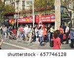 barcelona  spain   september 26 ... | Shutterstock . vector #657746128