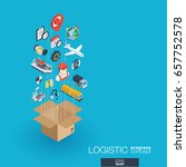 logistic integrated 3d web... | Shutterstock .eps vector #657752578