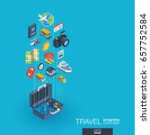 travel integrated 3d web icons. ... | Shutterstock .eps vector #657752584
