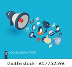 social media integrated 3d web... | Shutterstock .eps vector #657752596