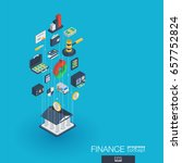 finance integrated 3d web icons.... | Shutterstock .eps vector #657752824