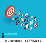 business integrated 3d web... | Shutterstock .eps vector #657752863