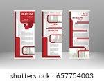 roll up banner stand design....   Shutterstock .eps vector #657754003