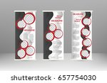 roll up banner stand design.... | Shutterstock .eps vector #657754030