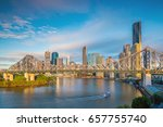 brisbane city skyline and... | Shutterstock . vector #657755740