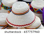 romanian traditional straw hat...   Shutterstock . vector #657757960