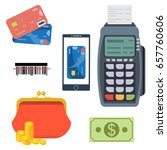 payment and banking set. all... | Shutterstock .eps vector #657760606