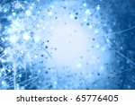 Abstract winter xmas background - light - stock photo