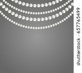 abstract pearl garlands  beads...   Shutterstock .eps vector #657765499