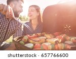 friends making barbecue and... | Shutterstock . vector #657766600