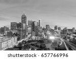 Skyline Of Atlanta City At...