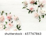 floral pattern made of... | Shutterstock . vector #657767863