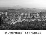 downtown portland  oregon at... | Shutterstock . vector #657768688