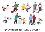 set of winter games. different... | Shutterstock .eps vector #657769354