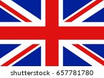 united kingdom flag vector icon. | Shutterstock .eps vector #657781780