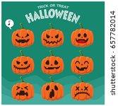 vintage halloween poster design ... | Shutterstock .eps vector #657782014
