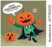 vintage halloween poster design ... | Shutterstock .eps vector #657782020