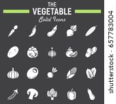 vegetable solid icon set  food... | Shutterstock .eps vector #657783004