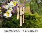 Wind Chimes Hanging In A...