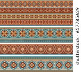 abstract ethnic stripes.... | Shutterstock .eps vector #657785629