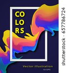 abstract colorful vector... | Shutterstock .eps vector #657786724
