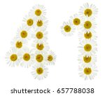 arabic numeral 41  forty one ... | Shutterstock . vector #657788038