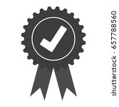 approved check mark icon vector ... | Shutterstock .eps vector #657788560